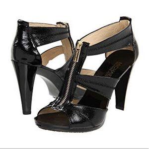 🆕 Michael Kors Berkley T-strap black heels 9M
